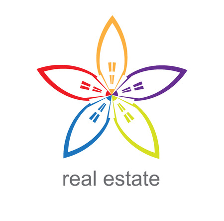 tourism industry: Building and real estate city illustration. Abstract background for business presentation, sale, rent