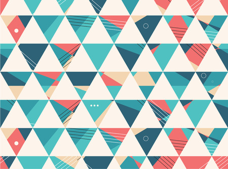 Abstract Seamless geometric shape vector pattern background