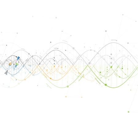 DNA Abstrakt backgroundcollection. Futuristische Technologie-Schnittstelle. Vektor-Format