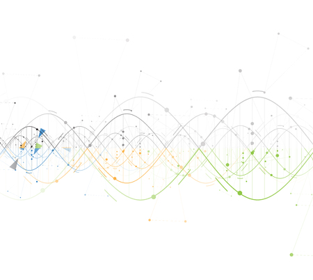 DNA Abstract backgroundcollection. Futuristic technology interface. Vector format