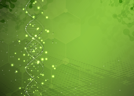 medical illustration: DNA Abstract background collection. Futuristic technology interface. Vector format