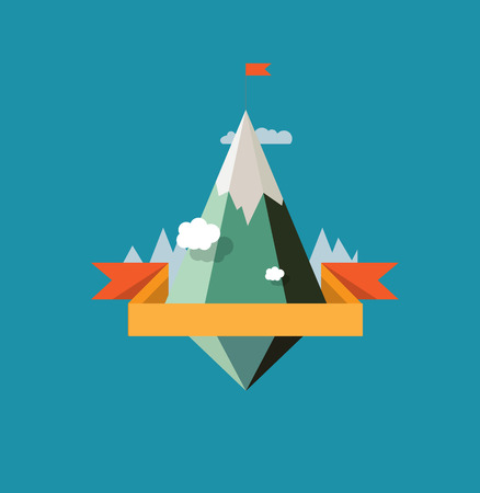 mountain landscape: Abstract Mountain landscape vector design solution