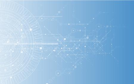 технология: Новая модель Технология бизнес фон Иллюстрация