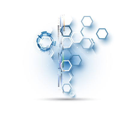solutions: Technology abstract background collection for business solution ideas. Vector image