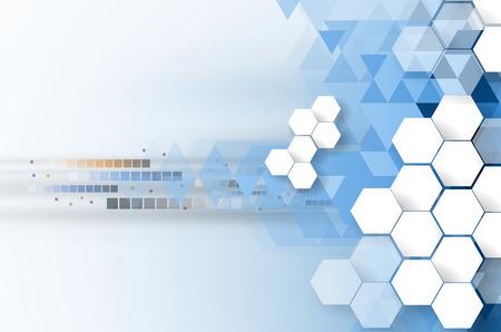 Technologie achtergrond collectie voor zakelijke oplossing ideeën. Image Vector Vector Illustratie