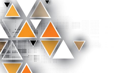 Abstracte tech achtergrond. Futuristische interface. Vector illustratie met veel geometrische vorm. Stock Illustratie