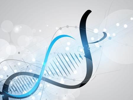 DNA Zusammenfassung Symbol und Elementsammlung. Futuristische Technologie-Schnittstelle. Vektor-Format