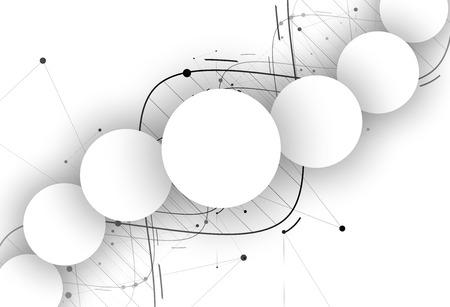 DNA Abstract icoon en collectie. Futuristische technologie interface. Vector-formaat