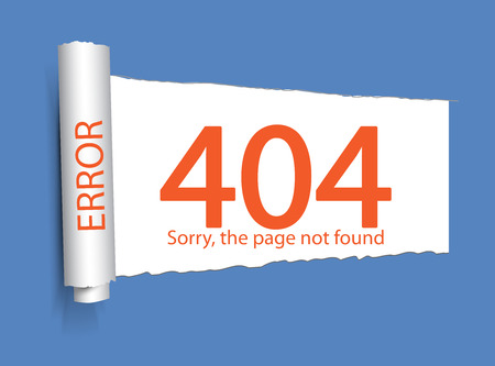 page not found: Error 404. Page not found. Abstract background with break connection. Vector illustration Illustration