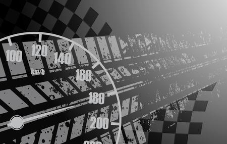 bandera carreras: Racing fondo cuadrado, vector abstracción en la pista de carreras de coches Vectores