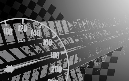 racing background: Racing square background, vector abstraction in racing car track