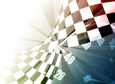 ganador: Racing fondo cuadrado, vector abstracci�n en la pista de carreras de coches Vectores