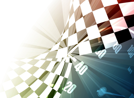 car race: Racing square background, vector abstraction in racing car track