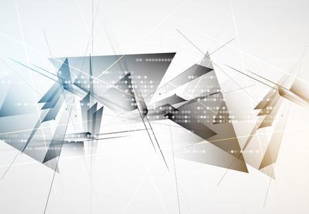 概念: 未來新技術的概念抽象的背景業務解決方案 向量圖像