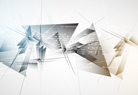 building: New future technology concept abstract background for business solution Illustration
