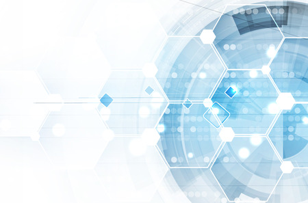 hexagon: Abstract vector background. Futuristic technology style. Elegant background for business tech presentations.