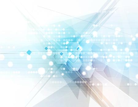 技術: 未來新技術的概念抽象的背景業務解決方案 向量圖像