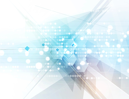 New future technology concept abstract background for business solution Illustration