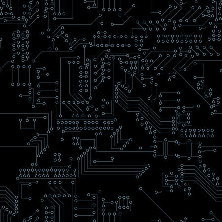 electrical part: Seamless Computer Circuit Board. Technology solution for project