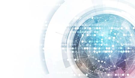 globo terraqueo: Globo abstracto con baja poli conectada de puntos y líneas de fondo