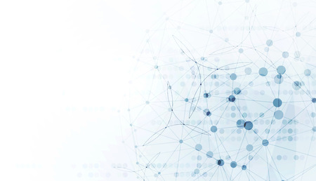 Abstracte wereld met een laag poly verbonden stip en lijnen achtergrond Stock Illustratie