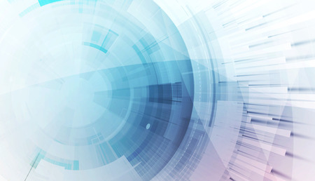 Fondo abstracto de la tecnología. Interfaz futurista. Ilustración del vector con muchos forma geométrica.