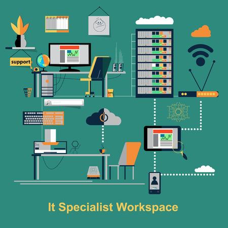 work space: It specialist work space scene