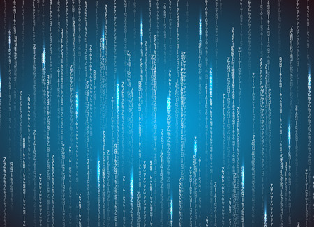Matrix binary code. Technology illustration . Vector format