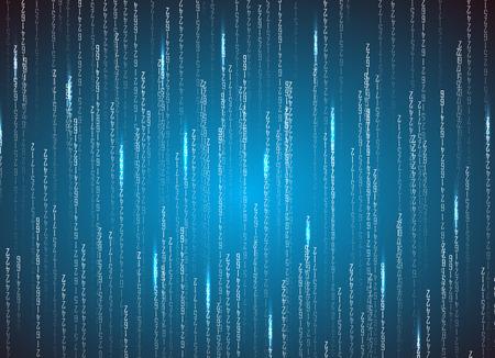 Matrix binary code. Technology illustration . Vector format Illustration