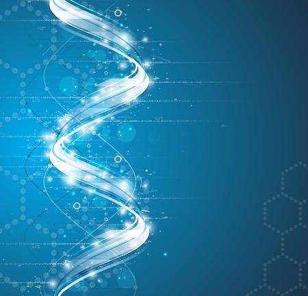 DNA Abstract ikona i zbieranie elementem. Futurystyczny interfejs technologii. Vector formacie Ilustracje wektorowe