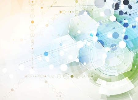 Scientifique Future Technology. Pour Présentation d'affaires. Flyer, Affiche vectorielle Concept Contexte Banque d'images - 50856881