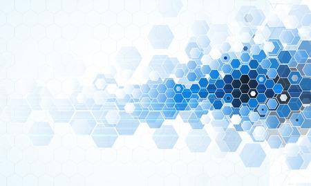 Tecnologia scientifica futuro. Per Presentazione dell'attività. Flyer, poster Vector Concept Background