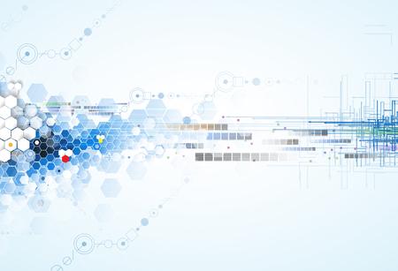 Wissenschaftliche Zukunftstechnologie. Für Business-Präsentation. Flyer, Poster Vektor-Konzept-Hintergrund Standard-Bild - 51047024