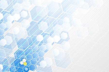 fondos azules: Tecnología Científico futuro. Para la presentación de negocios. Flyer, Fondo cartel Concepto vectorial