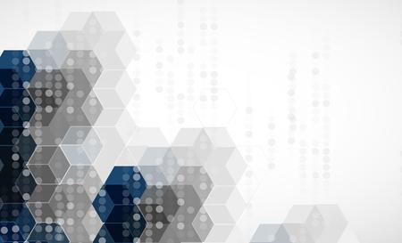 Wetenschappelijke Future Technology. Voor zakelijke presentatie. Flyer, Poster Vector Concept achtergrond