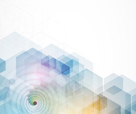 Abstraite technologie informatique de fondu futuriste affaires fond Banque d'images - 51129638