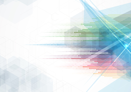 Abstract vector background. Futuristische Technologie Stil. Eleganter Hintergrund für Business-Tech-Präsentationen.