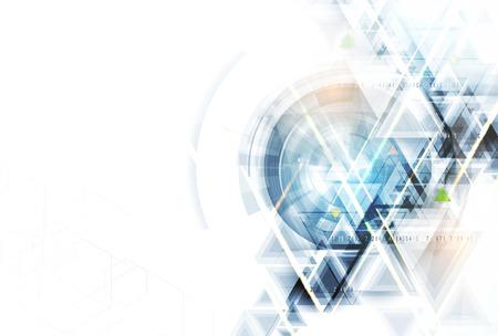 Naukowa technologia przyszłości. Do prezentacji biznesowej. Ulotka, plakat koncepcja tło wektor Ilustracje wektorowe