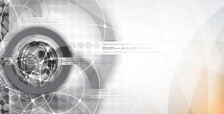 Résumé tête numérique du site Web. Bannière tecnology fond