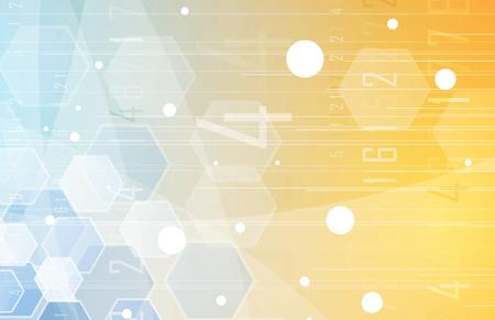Scientific Future Technology. Voor zakelijke presentatie. Flyer, Poster Vector Concept Achtergrond