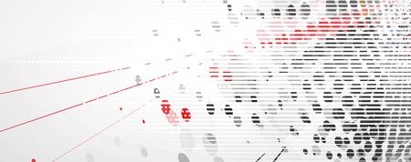 Tecnología de la colección resumen de antecedentes para las ideas de soluciones de negocio. Imagen del vector