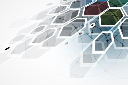 Abstracte vector achtergrond. Futuristische technologie stijl. Elegante achtergrond voor het bedrijfsleven tech presentaties. Vector Illustratie