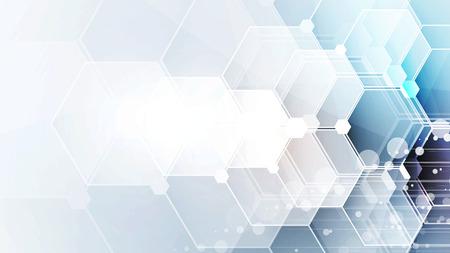 Scientifique Future Technology. Pour Présentation d'affaires. Flyer, Affiche vectorielle Concept Contexte