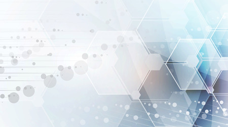 Naukowa Technologia Przyszłości. Do prezentacji biznesowych. Ulotka, plakat pojęcie wektora tła