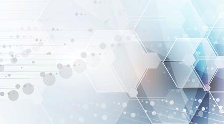 Wissenschaftliche Zukunftstechnologie. Für Business-Präsentation. Flyer, Poster Vektor-Konzept-Hintergrund