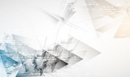 Estratto intestazione del sito web digitale. Banner tecnologia sfondo Vettoriali