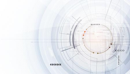 encabezado del sitio web digital abstracto. Bandera blanco Tecnology Ilustración de vector