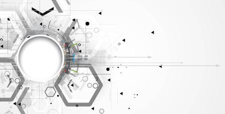 Abstrait arrière-plan de la technologie. L'interface futuriste. Vector illustration avec beaucoup de forme géométrique. Banque d'images - 55577688