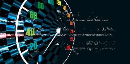 speed: Racing fondo cuadrado, vector abstracción en la pista de carreras de coches Vectores