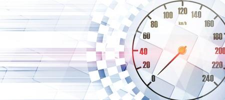 正方形の背景をレース、ベクトルのレース車トラックの抽象化